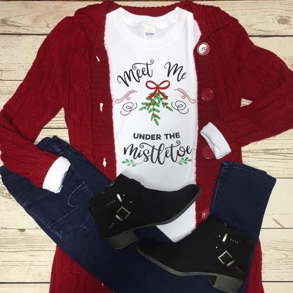 bed4a600e3f31 Cotton Lane Boutique Tops   Meet Me Under The Mistletoe Christmas Ls ...