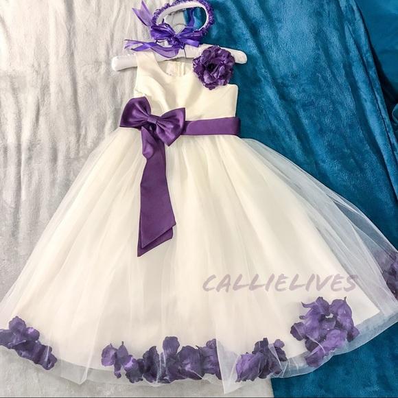 Callie Lives Dresses | Flower Girl Dress Easter Formal Tulle Purple ...
