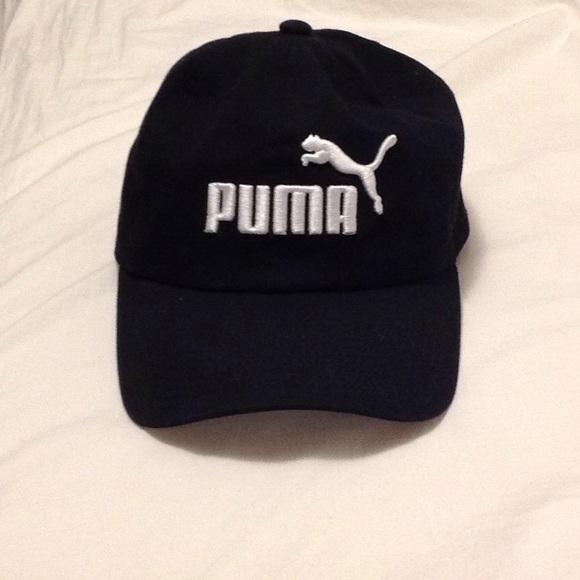 black puma cap