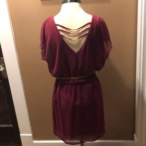 Cranberry dress with fun back detail