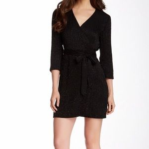 DVF Beaded Julian Two Mini Wrap Dress