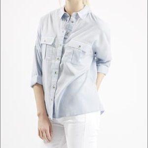 Topshop Oversized Chambray Shirt