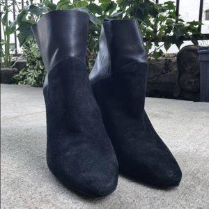 Rachel Zoe Elizabeth Kid Suede/Calf Boot in Black