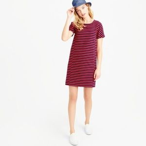 J.Crew • Red Striped Dress
