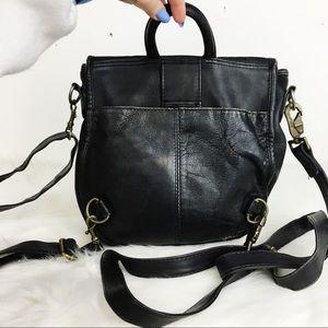 Vintage Genuine Leather School Backpack Half Moon