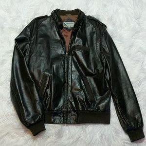 Vintage Leather Members Only Jacket sz 42L