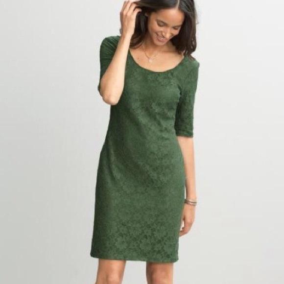 Banana Republic Dresses & Skirts - Banana Republic • Green Lace Dress
