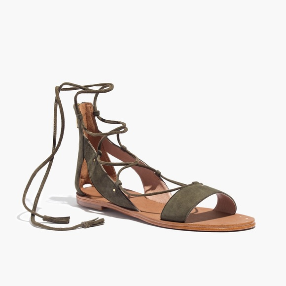 5d88875a9852 Madewell Shoes - MADEWELL Bridget Lace Up Sandal Olive Green