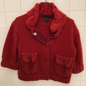 MARC JACOBS | red sweater/blazer