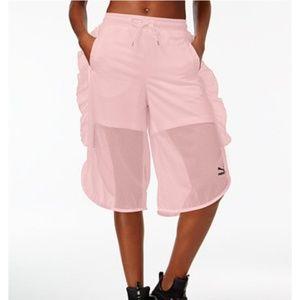 Puma Baby Pink Xtreme Mesh Frill Shorts