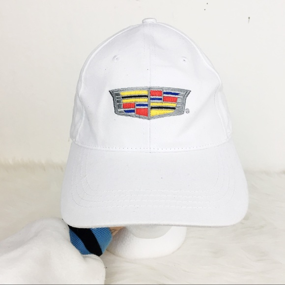 bdbbc922773 cadillac Other - Cadillac Logo Embroidered White Dad Hat