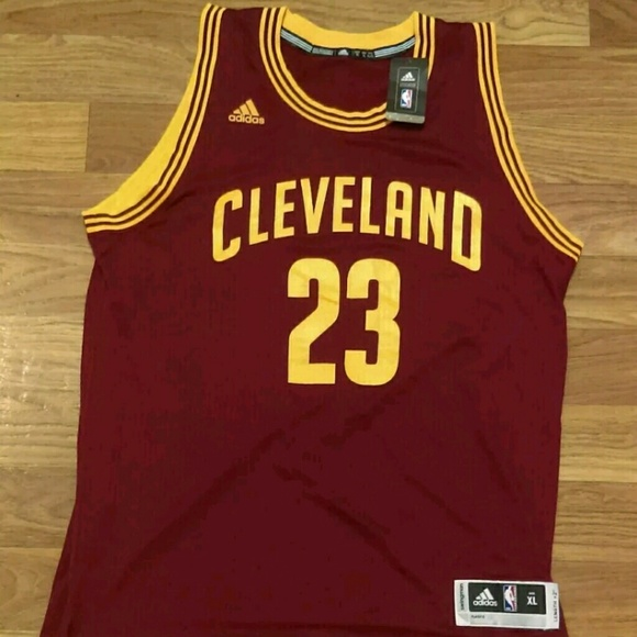 hot sale online 129ee f9bb0 Lebron James Adidas swingman XL cavs jersey NWT