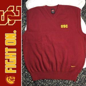 NIKE Team USC Trojans Embroidered Sweater Vest