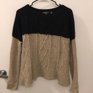 Vince colorblocked cable sweater