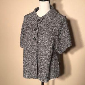 Women's black and white sweater
