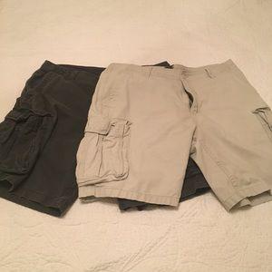Khaki & Dark gray shorts