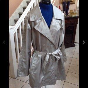 Avenue silver plus size belted jacket