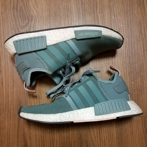 b5883ddd2 adidas Shoes - Green Vapour Steel Vapour Pink Adidas NMD R1