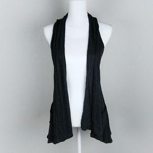 Miley Cyrus Max Azria Black Vest Cardigan Sweater