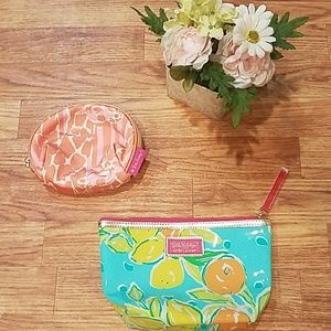 Pair Lilly Pulitzer Make Up Bags Great Condition!