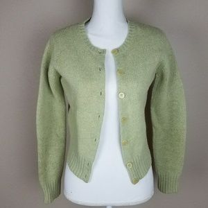 NY&Co Wool Light Green Cardigan Sweater Small