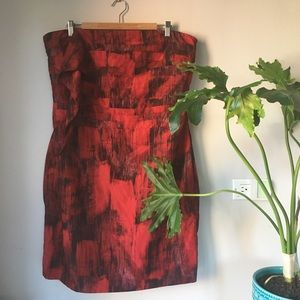 NY&Co•Red Strapless Cocktail Dress