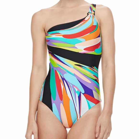 05df0c5be89ab Trina TurkPrisma One-shoulder Bathing Suit size 6.  M 5a22191c3c6f9f5b57013ed5
