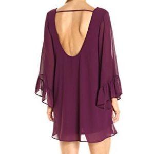 show me your mumu // low back flounce sleeve dress