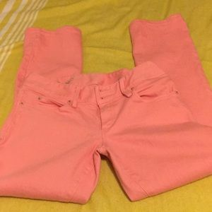 Lilly Pulitzer Worth Straight Leg Melon Peach Pant