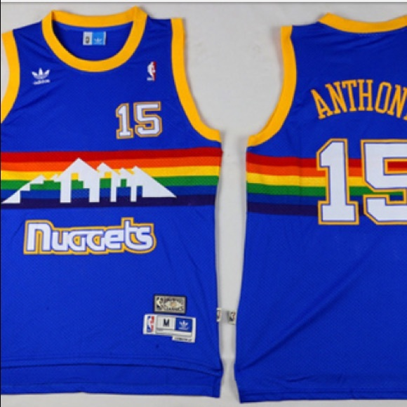 los angeles c83a1 3a61b cheapest carmelo anthony retro nuggets jersey b4342 3a044