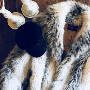Jackets & Blazers - Vintage Faux Fur Coat