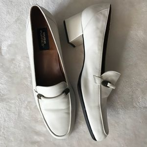 Hush Puppies Vintage White Loafers Rockabilly 9N