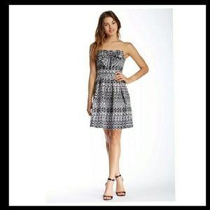 "Eva Franco Silver Metallic ""Tinsel"" Dress"