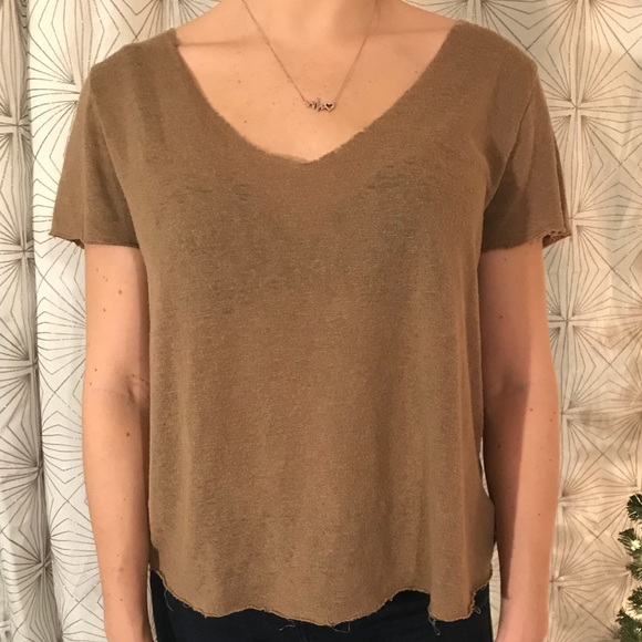 22bfcf02d Frayed Brown Shirt YEEZY style