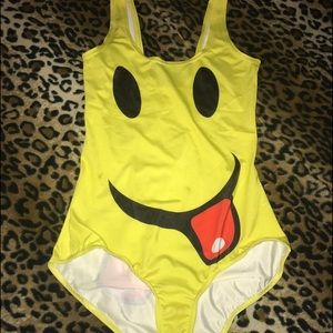 Smiley face onsie/swimsuit