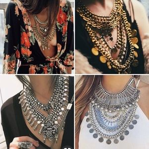Jewelry - Silver statement necklace set