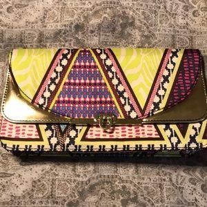 H&M Aztec print clutch