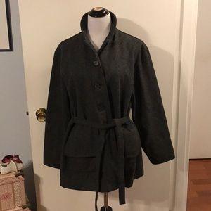 Milu gray wool coat