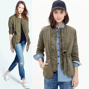 NEW Madewell Quilted Drawstring Jacket Utility