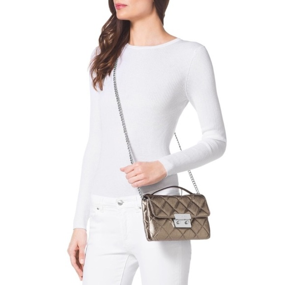11902a242be  Michael Kors  Sloan Quilted Leather Messenger
