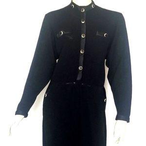 VTG St John Evening l.Magnin Black Knit Dress 10