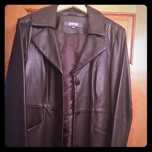 Women Leather Kenneth Cole Trench