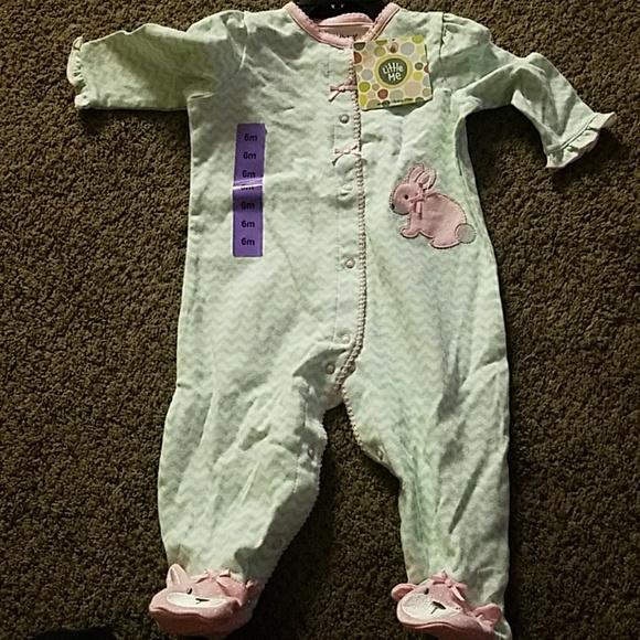 Little Me Damask Bodysuit Set 9M Pink NWT Baby Girls