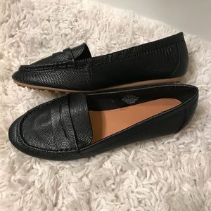 NEW Black Faux-Leather Loafers H&M 9.5/41