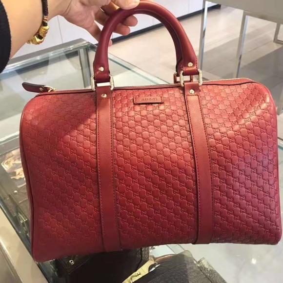 3a60601bd81 Gucci Bags   New Red Leather Micro Gg Ssima Boston   Poshmark