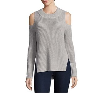 [French Connection] Cold Shoulder Cotton Sweater
