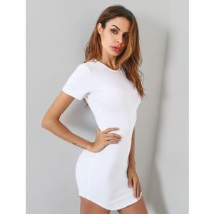 ae70cf24a0a8 Naked Wardrobe Dresses - Naked Wardrobe Tight White Cotton Bodycon Dress