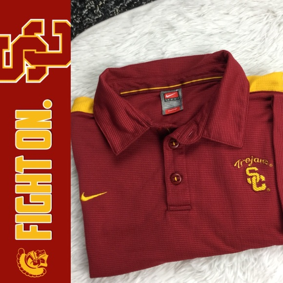 09fa8349f Nike Shirts | Team Fit Dry Usc Trojans Embroidered Polo | Poshmark
