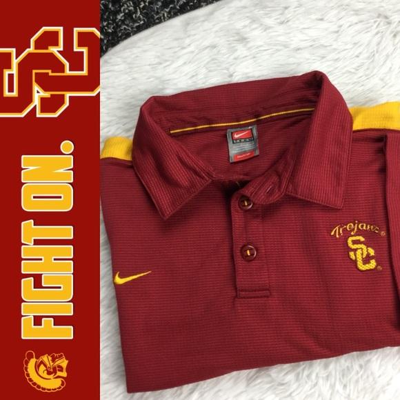 10942049 Nike Shirts | Team Fit Dry Usc Trojans Embroidered Polo | Poshmark