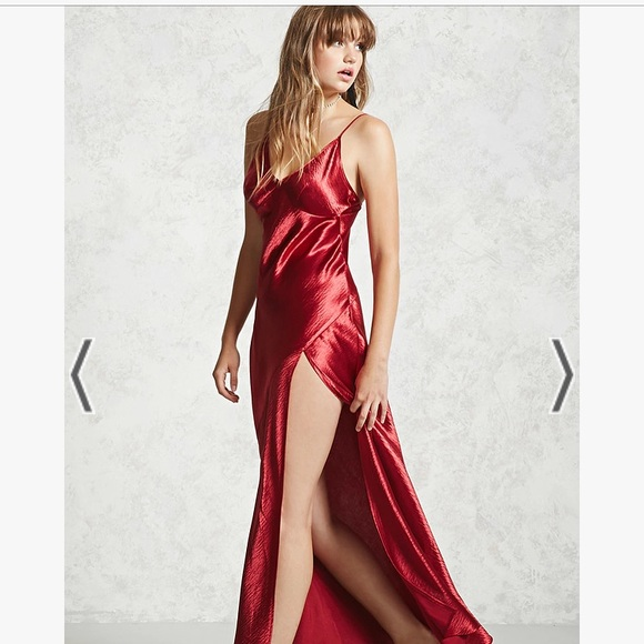 a8aedf44cbe Forever 21 Dresses   Skirts - Forever 21 Red Satin Maxi Dress